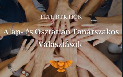 ELTE BTK HÖK Alap- és Osztatlan Tanárszakos Választások