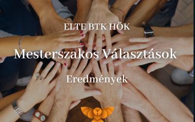 ELTE BTK HÖK Mesterszakos Választások -Eredmények